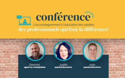 L'accompagnement à l'éducation des adultes, des professionnels qui font la différence!
